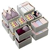 Kootek Organizador de cajones, 16 unidades en 3 tamaños plegables, organizador de cajón, caja de almacenamiento para ropa, ropa interior, sujetadores, lencería, calcetines.