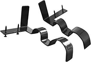 WAQIA HOUSE 2 Pcs Double Center Support Curtain Rod Bracket Into Window Frame Curtain Rod Bracket Adjustable Curtain Rod Brackets Black