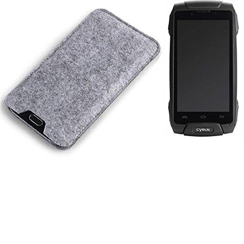 K-S-Trade® Filz Schutz Hülle Für Cyrus CS 30 Schutzhülle Filztasche Filz Tasche Hülle Sleeve Handyhülle Filzhülle Grau