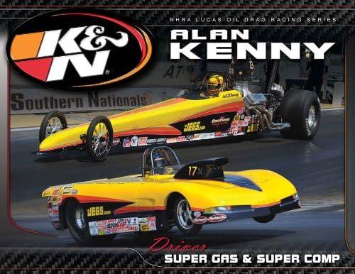 KN Engineering 89-11641 Hero Tulsa Mall Card; Alan Ranking TOP9 2 8-1 Kenny X 11