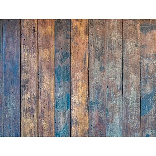 Fondo de fotografía de tablón de Madera apoyos Piso de tablón Fondo de Estudio fotográfico Fondo de fotografía de Vinilo A16 9x6ft / 2,7x1,8 m