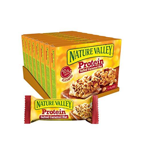 Nature Valley Protein Salted Caramel Nut, 8er Pack (8 x 160 g Multipack mit je 4 Proteinriegeln)