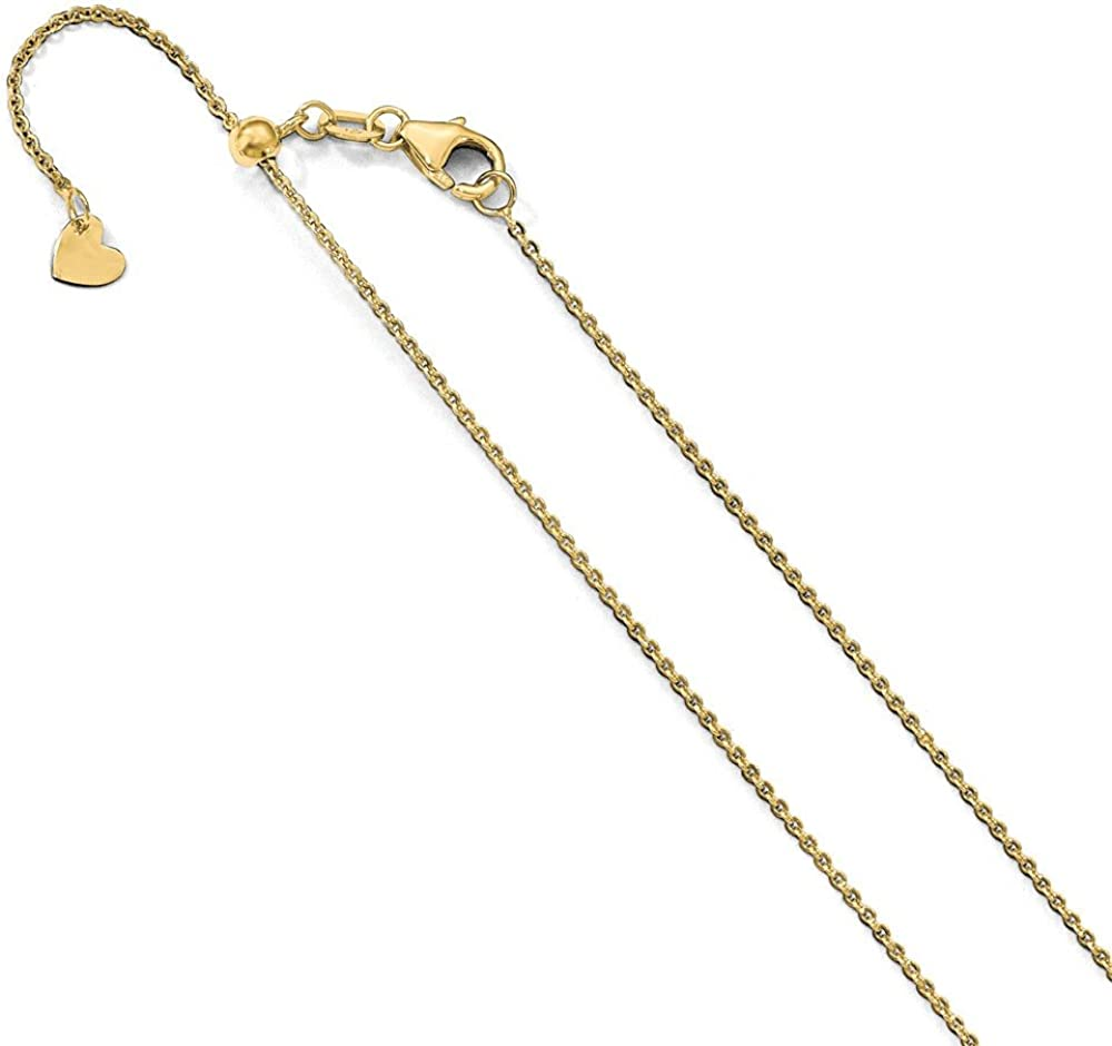 Leslie's 14K [Alternative dealer] 1.25 mm Flat Cable Chain Bombing new work Adjustable
