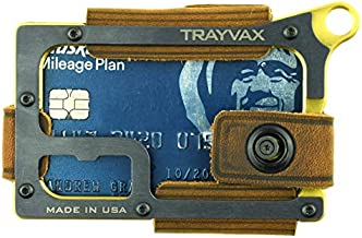 Trayvax Contour Minimalist Wallet Tactical Armor Steel Front Pocket RFID