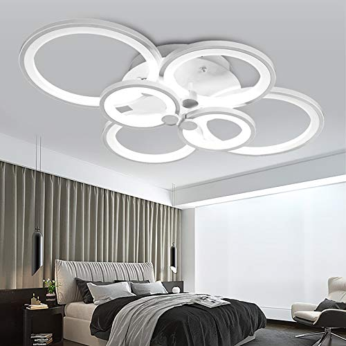 LED Deckenleuchte 6067-6fl 80x58x16cm LED 70W mit Fernbedienung Lichtfarbe/ Helligkeit einstellbar Acryl-Schirm weiß lackierte Metallrahmen Design A+ (6067-6 70W) LED Wohnzimmerleuchte Kronleuchte Pendelleuchte DeckenlampeDeckenstrahler LED Deckenleuchte Hängeleuchte Hängelampe LED lampe LED Leuchte Beleuchtung Einbauleuchte Wandleuchte Spot Lüster