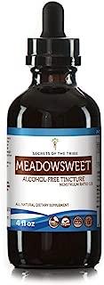 Meadowsweet Tincture Alcohol-Free Liquid Extract, Organic Meadowsweet (Filipendula Ulmaria) Dried Herb (4 FL OZ)