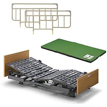 パラマウントベッド 介護ベッド Q-AURA(クオラ)3モーター KQ-63330(レギュラー) +ストレッチスリムマットレス+ベッドサイドレールのお得な3点セット