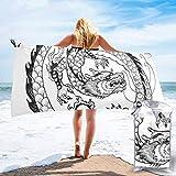 Hogar y cocina Baño Textiles de baño Toallas Toallas de playa Quick Dry Beach Towel Horror Night Neon Sign Vector.Halloween Poster Design Template Neon Sig Microfiber-Sand Free-Lightweight Thin Bath T