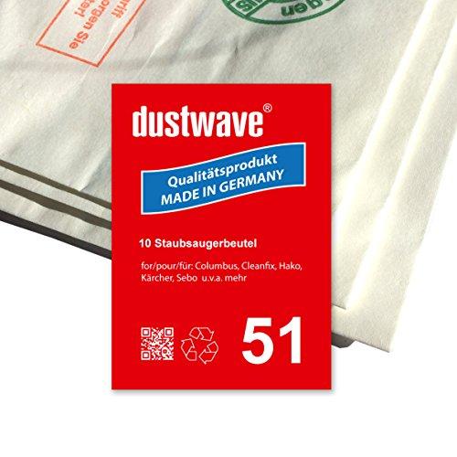 Megapack - 30 Staubsaugerbeutel geeignet für Columbus BS 360 / BS360 Staubsauger - dustwave® Markenstaubbeutel - Made in Germany