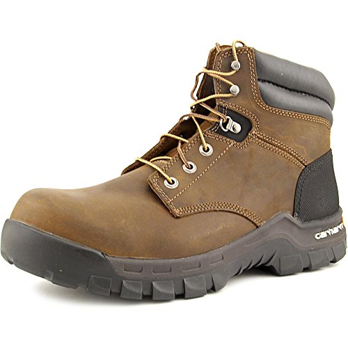 Carhartt Men's Rugged Flex 6' Comp Toe Construction Shoe, Brown Oil Tanned Leather, 9.5 Wide