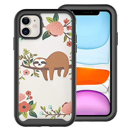 iPhone 11 (6.1 inch) Case,Blingy's Heavy Duty Multi-Layered Shockproof Hybrid TPU+PC Defensive Protective Case Compatible for iPhone 11 6.1' 2019 Release (Sleeping Sloth)