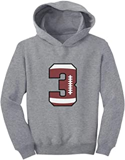 Tstars Gift for 3 Year Old 3rd Birthday Football Toddler Hoodie