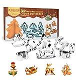 Beetop 3D Ausstechformen Edelstahl DIY Weihnachten Ausstecher Set für Keks Backen Fondant Plätzchen Tortendekorationen (Baum)
