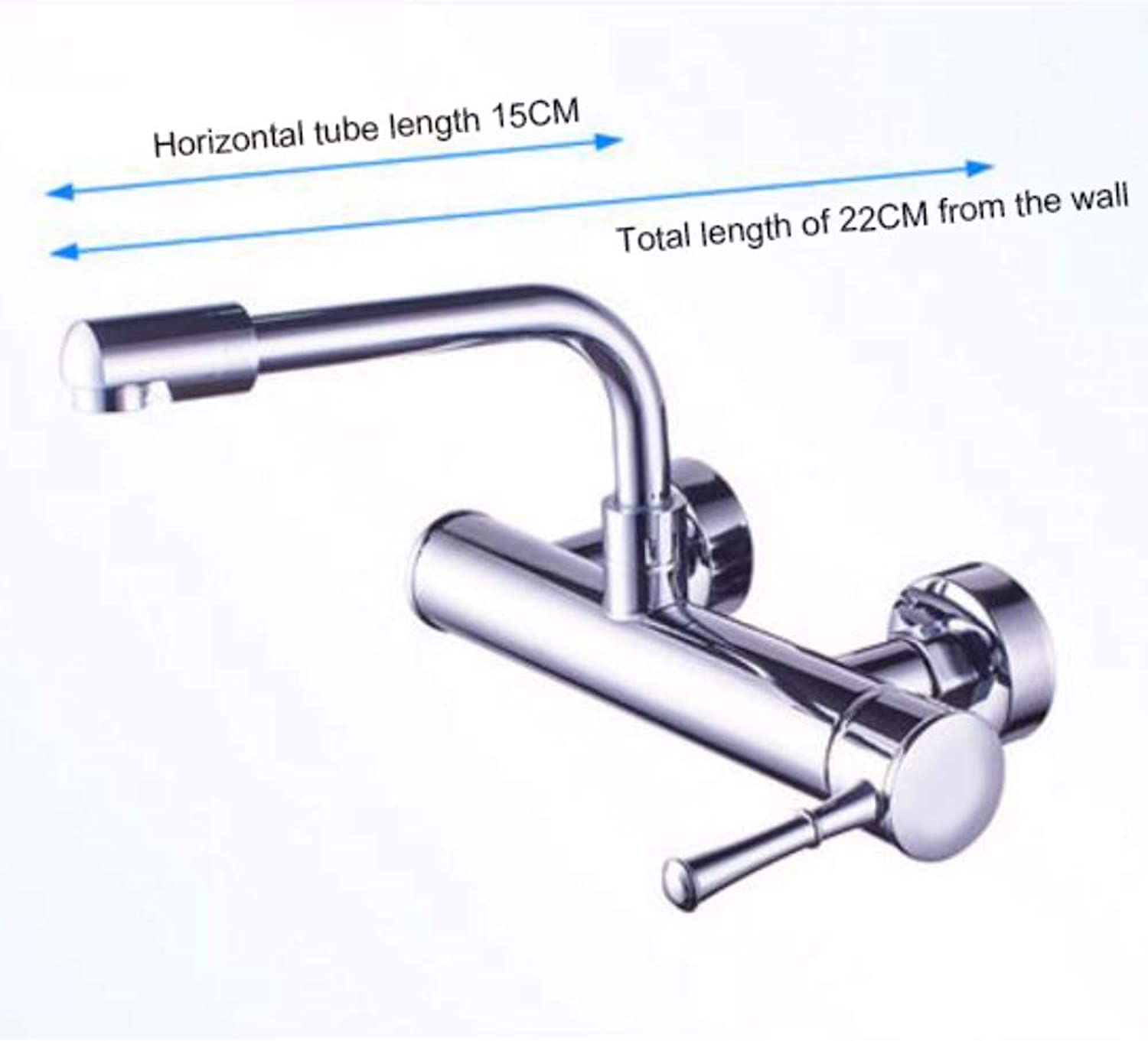 Wall Mounted taps Walled Kitchen Cool and Hot Water Tank Vegetable Washing Pool Universal redary Tensile Folding Lengthened taps,A