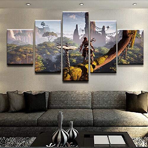 Home Decoration HD Print Foto Omlijst Horizon Zero Dageraad Poster Muur Artwork Spel Schilderen Woonkamer Canvas Frameless 40 * 60 40 * 80 40 * 100
