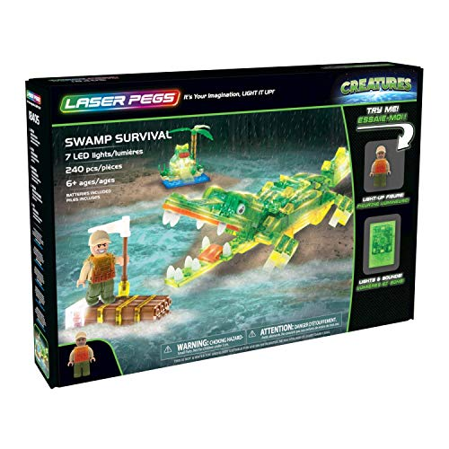 Light It Up Laser Pegs Garbage Truck 12-in-1 Building Set Building Kit; The First Lighted Construction Toy to Ignite Your Childs Creativity; Its Your Imagination