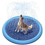 LIUCHANG Haustier streuen und Spritzen Wasserspielmatte dauerhaft tragbarer aufblasbarer Sprinkler-Pad streuen Wating Pool for Hunde Babys Kleinkinder liuchang20