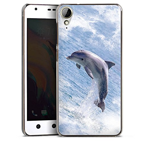 Hard Hülle kompatibel mit HTC Desire 10 Lifestyle Schutzhülle transparent Smartphone Backcover Delfine Meer Wal
