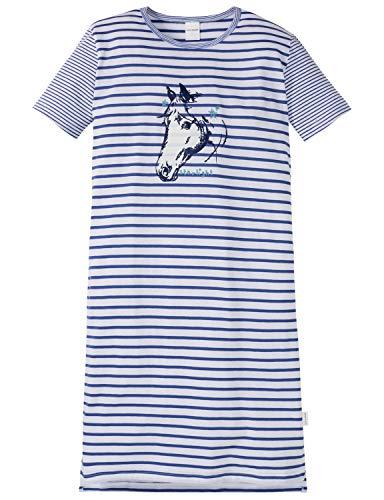 Schiesser Mädchen Pferdewelt Md 1/2 Nachthemd, Blau (Blau 800), (Herstellergröße: 116)