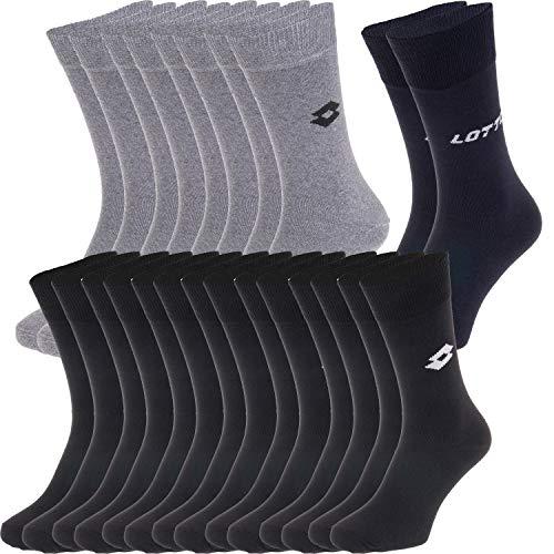 Pignolo s Lotto Socken für Herren Kinder Damen Sneaker Socken Tennis-socken (6X Paar) Lange Haltbarkeit Dank Bester Qualität, Farbe:12-Paar-Set-1, Größe:43-46