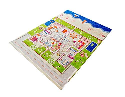 Little Helper 121MD035134180 IVI Hypoallergener Dicker 3D-Kinderspielteppich, 134 x 180 cm, mehrfarbig