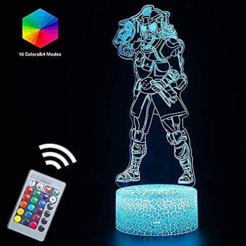 Apex Legends Light 3D Stimmung LED Nachtlichter Lampe Ferngesteuert USB oder Batterien Angetrieben mit 16 Farben Veränderbar Kreatives Geschenk Bday Party Geschenke Schreibtisch Tischlampen (Wraith (