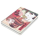 Cuaderno de composición, Cuadernos de la escuela universitaria Cuaderno del diario diario, portada impresa de dibujos animados japoneses, papel grueso, 5.7 '' * 4.1 '', 224 hojas(Cocina)