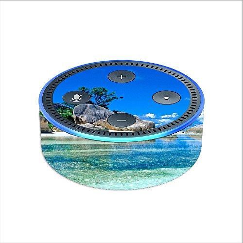 Skin Decal Vinyl Wrap for Amazon Echo Dot 2 (2nd generation) / Island Paradise Beach