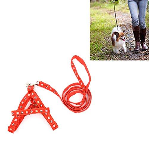 jdon-pet verstelbare manchet manchet voor huisdieren, bedrukt, nylon, maat M - 25-40 cm, lengte 120 cm
