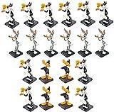 OPO 10 - Lote de 20 figuritas de Metal - 8cms - Silvestre y Piolín (x10) + Pato Lucas (x4) + Bugs Bunny (x6) / Piolín y Grosminet Looney Tunes (LL6)