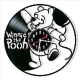 kkkjjj Wanduhr Vinyl Winnie The Pooh Rekorduhr Ret