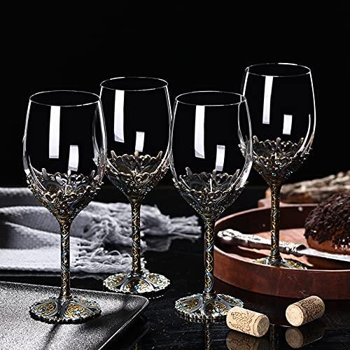Elegante vino Respirador jarra vintage decantador creativo vino jarra mesa vino tinto jarra copa europea decoración del hogar para vino tinto coñac bourbon whisky irlandés escocés F 350 ml x4 unids