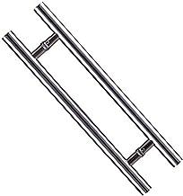 LHL-DD deurgreep, roestvrij staal glazen deuren handvat H-vormige schuurdeur zijhandgreep handgrepen dubbele keukenhandgre...