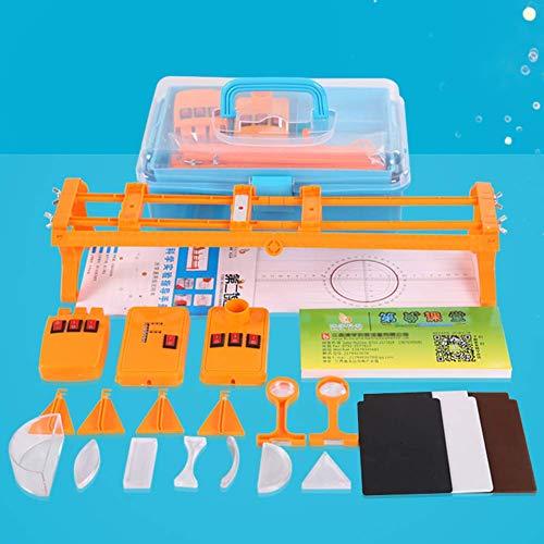 Wghz Equipo de Laboratorio fsico Banco ptico F Fuente de luz Lser de Tres lneas Caja de experimentos pticos de Tres Colores primarios Material didctico