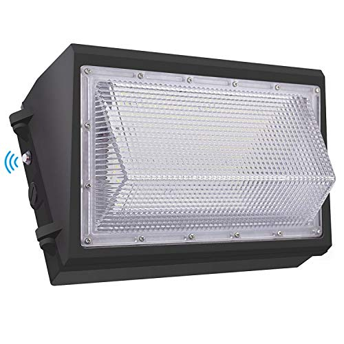 Dusk to Dawn 120W LED Wall Pack Light, 15600LM 600-800W HPS/HID Equivalent, 5000K Daylight Commercial Outdoor Security Lighting with Photocell Sensor, ETL for Parking Garages,Warehouse,Entrance