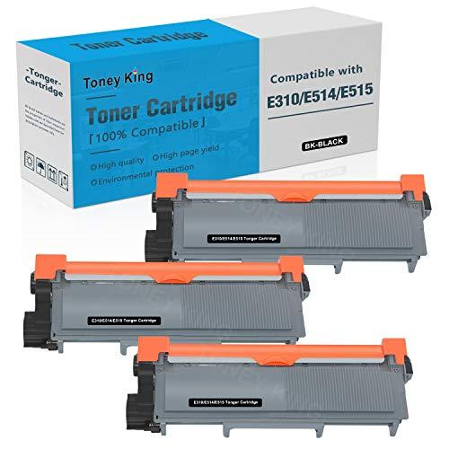 Compatible E310 E514 E515 Toner Cartridge Replacement for Dell E514dw E310dw E515dw E515dn Printer Toner Cartridges ( Dell PVTHG, 593-BBKD, P7RMX, 2,600 Page High Yields, 3PK x Black ) by Toney King