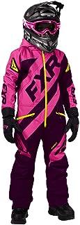 FXR Youth CX Monosuit Insulated Snowmobile Suit (Plum/Elec Pink/HiVis, 16)