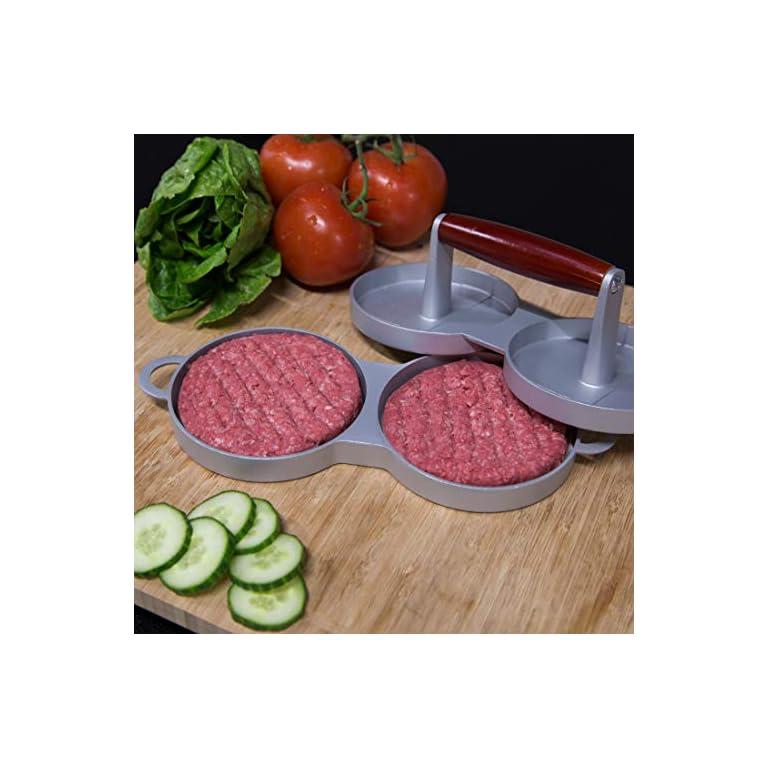 Ultranatura-Doppia-Pressa-per-Hamburger-Patty-Pressa-per-Hamburger-Doppia-con-Rivestimento-Antiaderente-Pressa-per-2-Polpettine-di-Manzo-115-cm