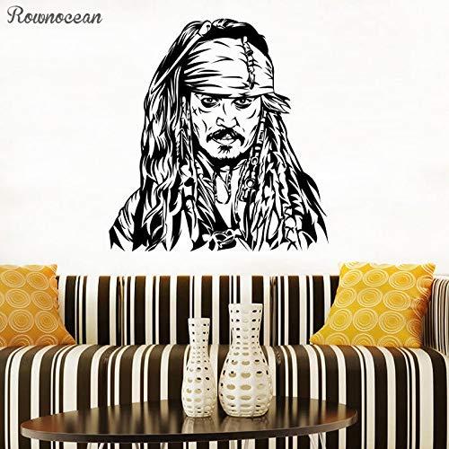 guijiumai Vinilos Decorativos para fanáticos Vinilos Decorativos para niños Carteles de Vinilo de Piratas del Caribe Diseños de Arte Negro M 42x45cm