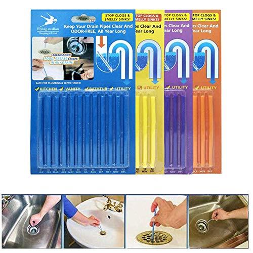 Abnaok Bâtonnets biologiques pour canalisations, Pack de 48