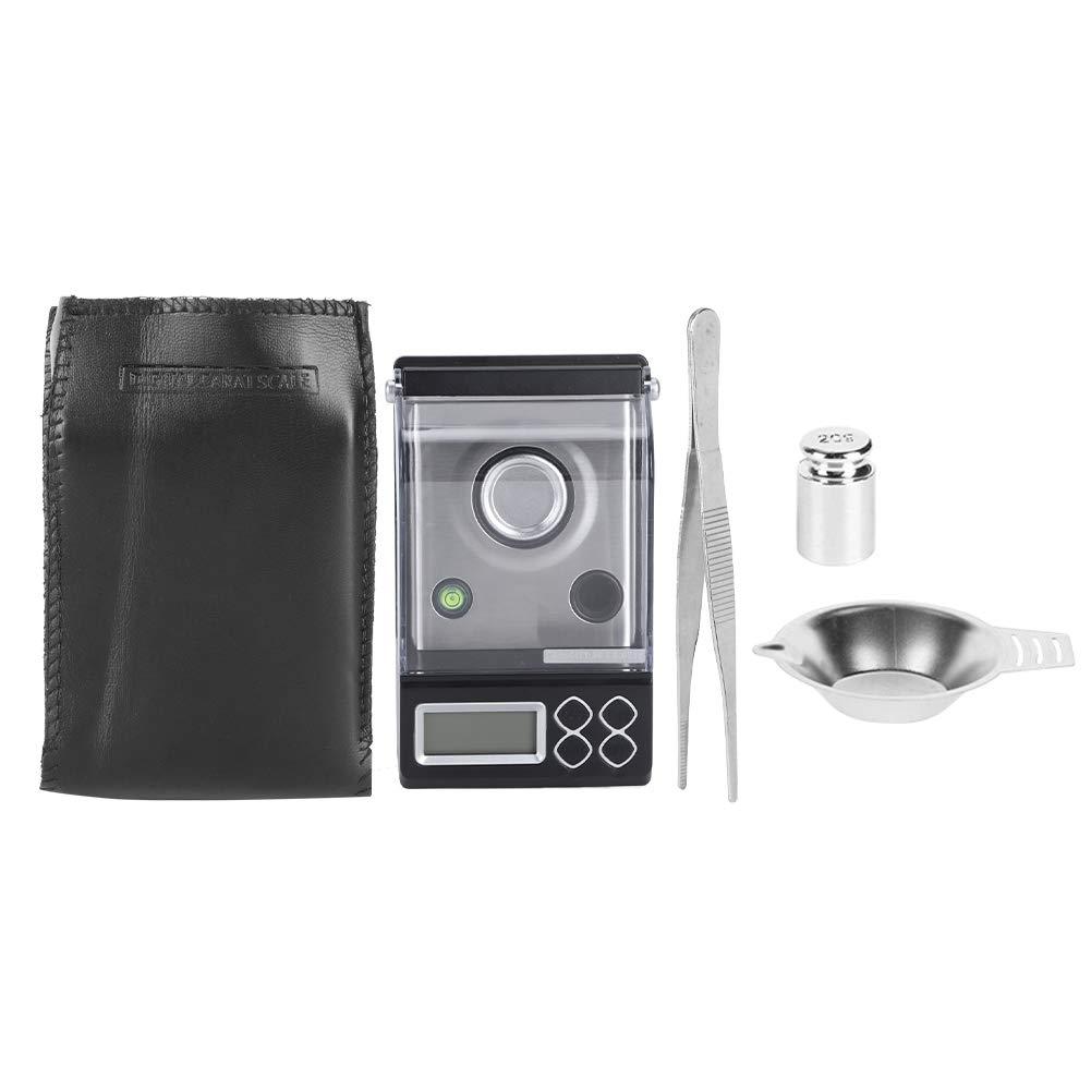 Escala Digital,Cikonielf Mini Báscula De Pesaje De Alta Precisión Con Una Bolsa Pantalla Visual Nocturna De Alta Definición Balanza De Joyería Portátil Balanza Accesorio De Cocina 30 G/0,001 G
