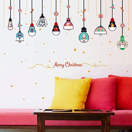 Decoratie cartoon kerstmis kroonluchter muursticker kinderkamer nachtkastje decoratie wandtattoos glazen venster deur sticker