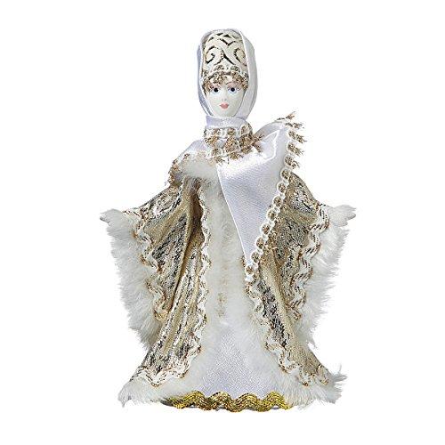 Poupée en Porcelaine Faite à la Main dans Un Costume Folklorique Traditionnel Russe 17 cm 06-20