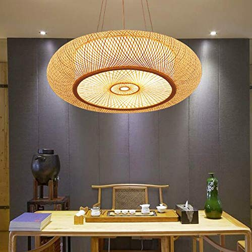 lampadario soggiorno bambù E27 Lampada a Sospensione Lampada da Soffitto Lampadario di Bambù Naturale Rattan Creativo Handmade Paralume Camera Soggiorno Sala Da Pranzo Lampada Vintage Bamboo Lanterna a Sospensione