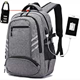 ❤ULTRA COMFORTABLE: Our Water resistant travel backpack is ideal for computer laptop. Foam padded top handle and the bottom ensures your comfort for a long time carry on. Breathable and adjustable shoulder straps relieve your shoulder stress at inter...