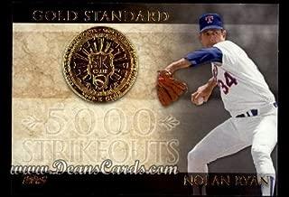 2012 Topps Gold Standard # 1 GS 5,000 K Club Nolan Ryan Texas Rangers (Baseball Card) Dean's Cards 8 - NM/MT Rangers
