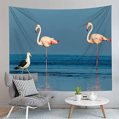 3D Bohemian Flamingo Style Wall Mounted Arazzo Complementi Arredo Casa Sfondo di Stoffa Arazzo Coperta Appeso Panno A4 73x95 cm