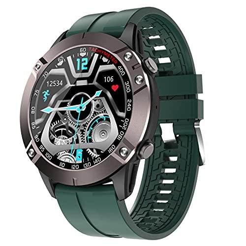 FMSBSC Smartwatch Reloj para Hombre con Llamada Bluetooth Pulsómetros Monitor De Sueño Música Bluetooth Presión Arterial, Pulsera Actividad Inteligente con 7 Modos Deportivos,Verde