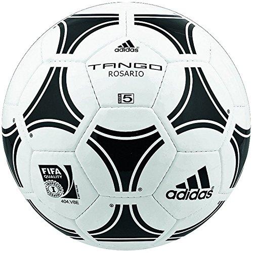 adidas Tango Rosario Balón de Fútbol, Hombre, Blanco (Blanco/Negro/Negro), 4