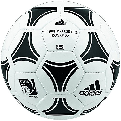 adidas Trainingsball Tango Rosario Soccer Ball, White/Black, 5